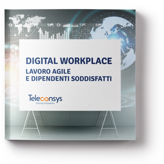MOCKUP_Digital Workplace  lavoro agile  e dipendenti soddisfatti